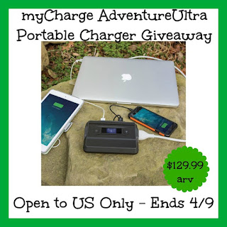 Enter the MyCharge Adventure Ultra Giveaway. Ends 4/9