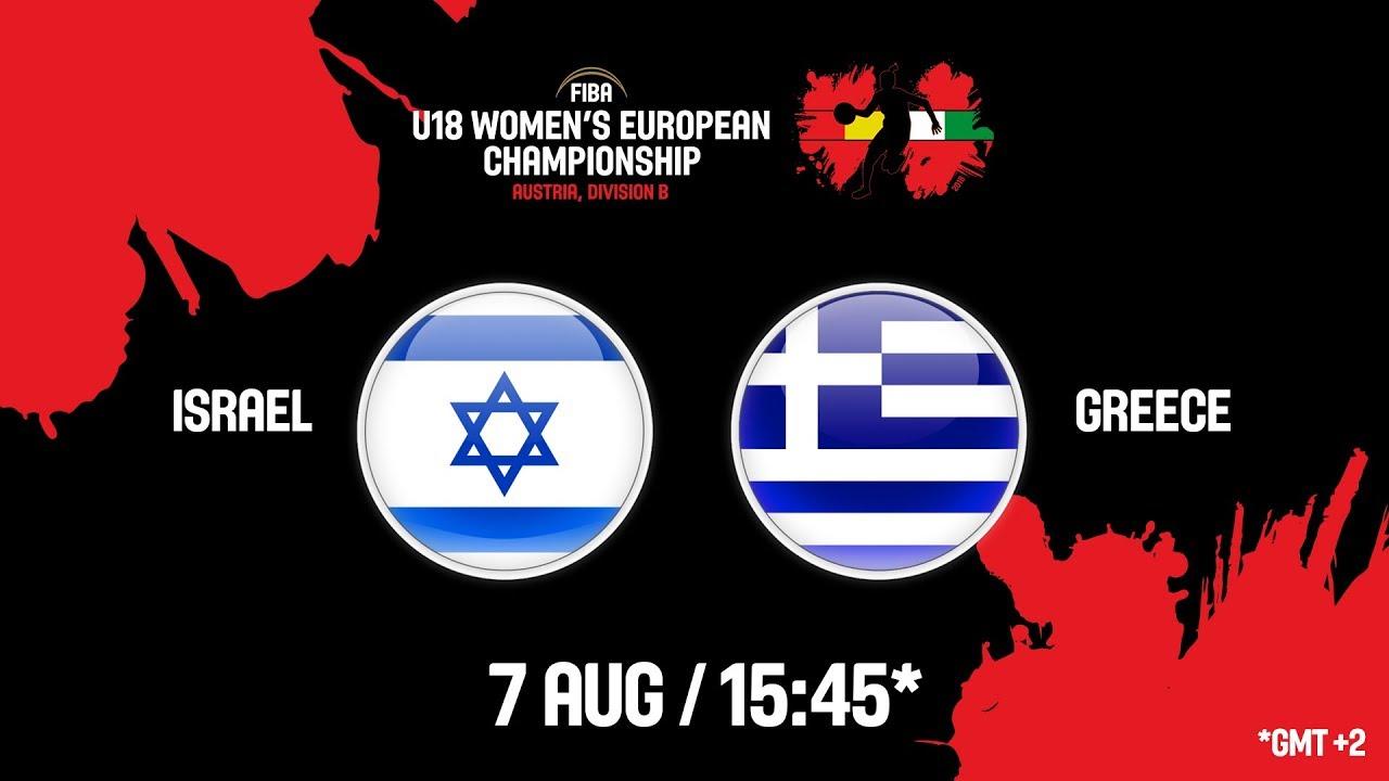 Ισραήλ - Ελλάδα ζωντανή μετάδοση στις 16:45 από την Αυστρία, για το Ευρωπαϊκό Νεανίδων (Β κατηγορία)