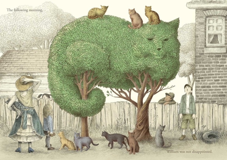 06-Cat-Tree-The-Fan-Brothers-Surreal-Illustrations-www-designstack-co