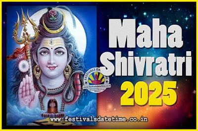 2025 Maha Shivaratri Puja Date & TIme, 2025 Maha Shivaratri Pooja Calendar