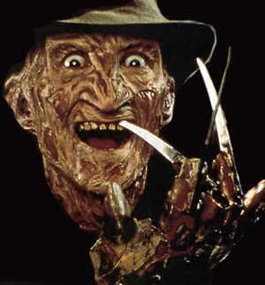 Foto de Freddy Krueger con garras de acero