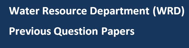 Rajasthan WRD Previous Papers and Question Paper Pattern