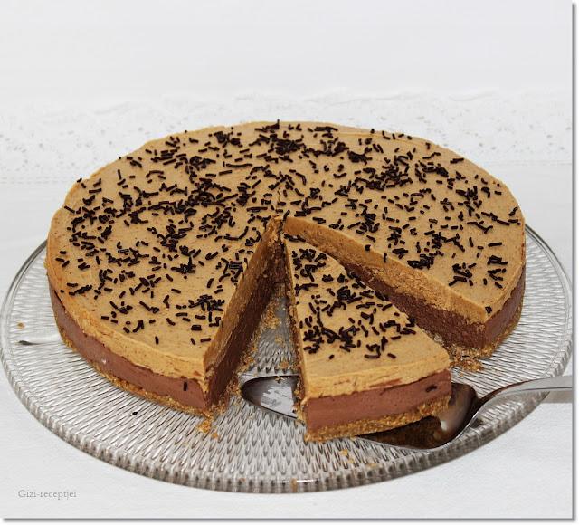 Csokoládés-mogyoróvajas torta.