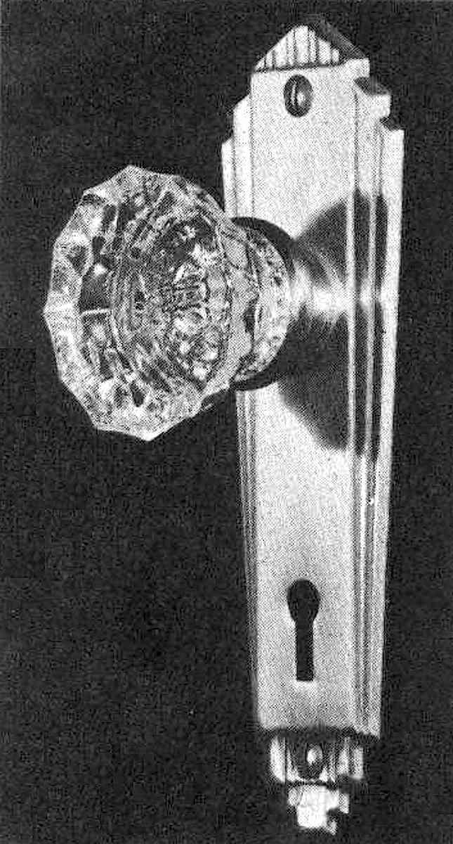 glass doorknob 1944 photograph