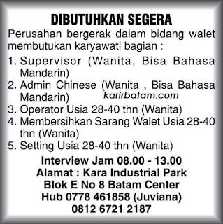 Lowongan Kerja Admin dan Operator Kara Industria Park