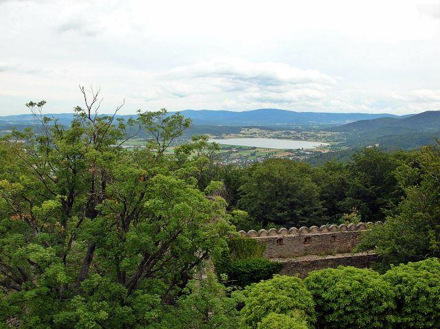Chojnik, zamek, panorama, Karkonosze