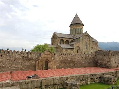 La catedral de Svetiskhoveli, en Mtskheta