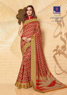 Kanjivaram Silk Vol 6 SHANGRILA SAREES WHOLESALER LOWEST PRICE SURAT GUJARAT