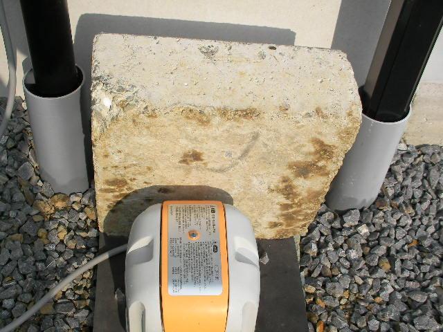 浄化槽ブロワー 礎石
