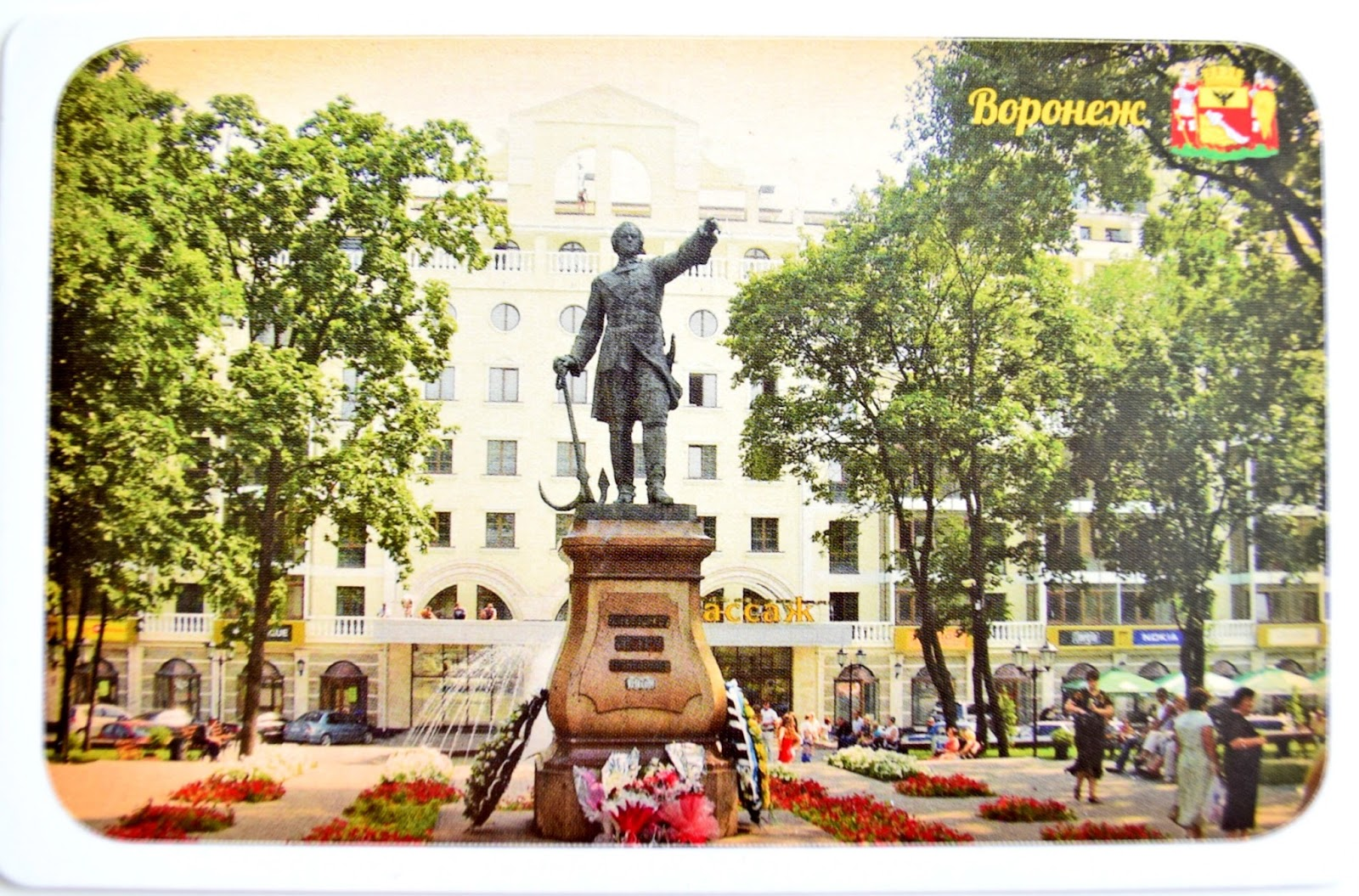 The monument to Peter the Great. Voronezh.