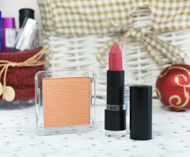 Essence Metal Chrome Blush and Catrice Ulimate Matt Lipstick