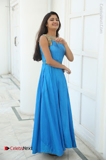 Telugu Actress Akshita (Pallavi Naidu) Latest Stills in Blue Long Dress at Inkenti Nuvve Cheppu Movie Promotions  0074.jpg