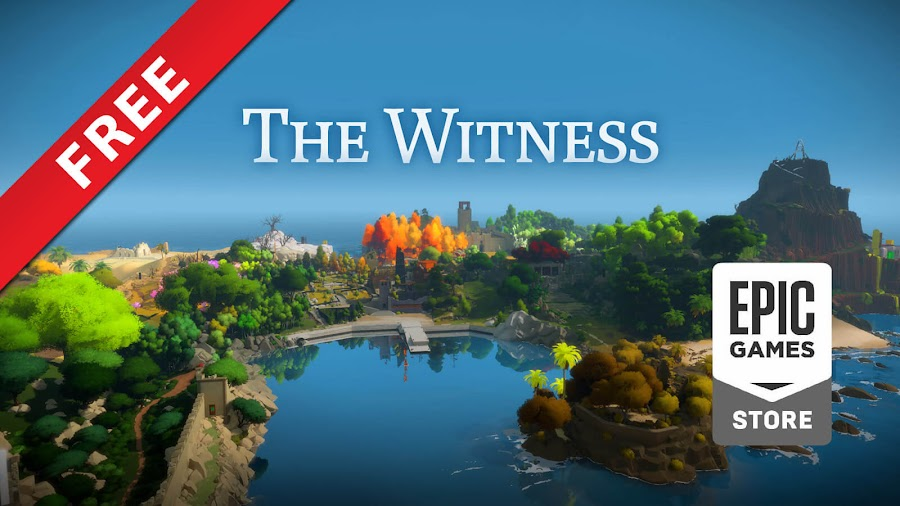 the witness free pc epic games store puzzle platformer