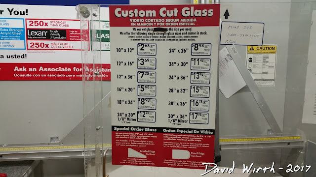 lowes, home depot, lexan, glass area, plexiglass cost
