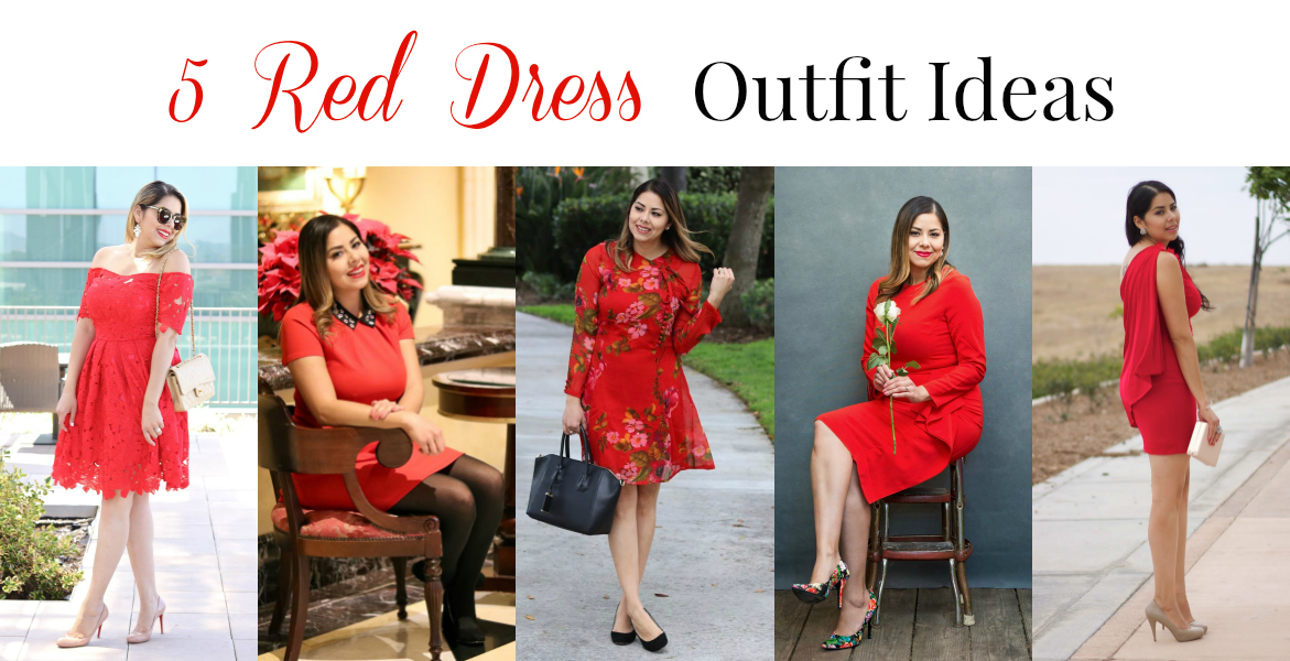 5 red dress ideas for the Holidays, 5 ways to wear a red dress, 5 red dresses and how to wear them, how to wear a red dress