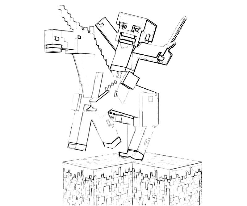 minecraft coloring pages herobrine - 404 not found