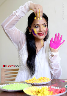 Bollywood Actress and Producer Neetu Chandra Special Po Shoot Gallery in a Dry Holi Celetion  0005.JPG