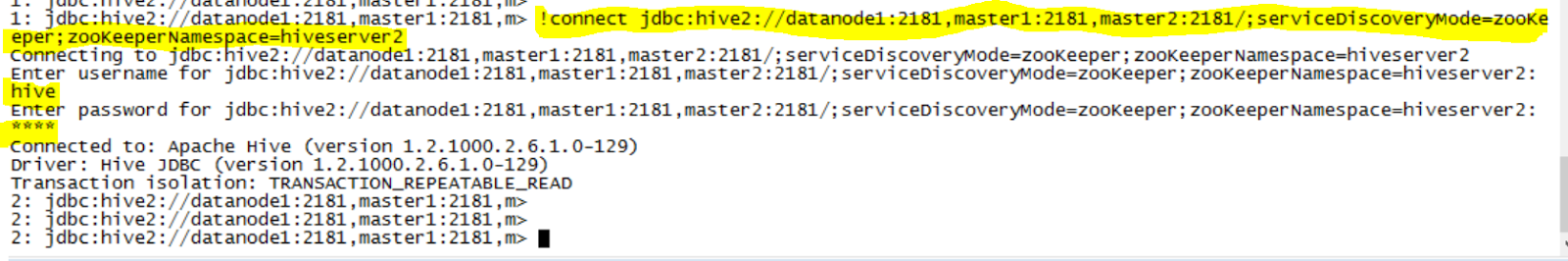 Hadoop Lessons: Connecting to Hive database with dynamic