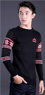Sweater Cowok Lengan Motif Original GARSEL