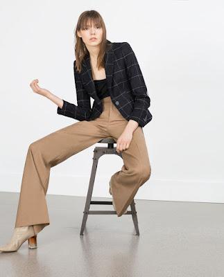 Zara Check Wool Blazer