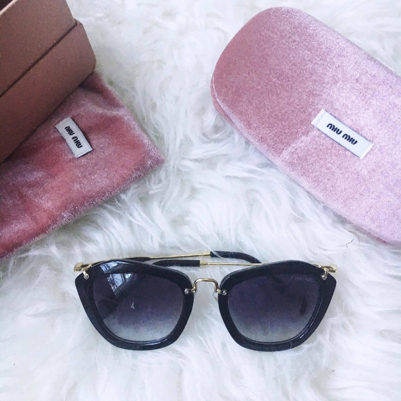 38977fb0438ce Miu Miu  The Noir Catwalk Cat Eye Sunglasses