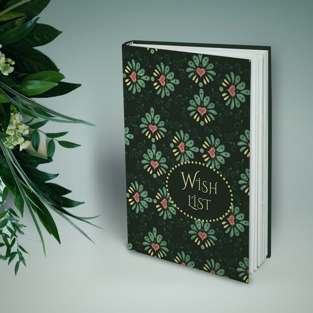 "Cute vintage notebook ""Wish List"""