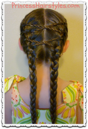 Criss Cross French Braids Hairstyle Hairstyles For Girls