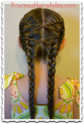 Cute Hairstyle Tutorial, Criss Cross French Braids
