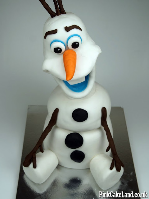 olaf bday cake london