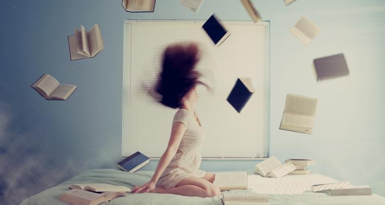 latające książki