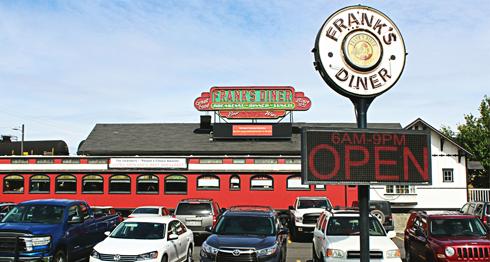 franks diner spokane train car