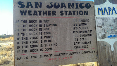Weather Info in San Juanico on Scorpion Bay, Baja California Sur