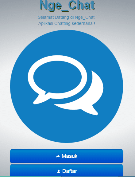 2 Source code aplikasi chat dengan php mysql bootstrap