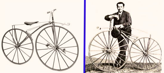 Two Pictures of Pierre Michaux's Velociped Invention, 1867