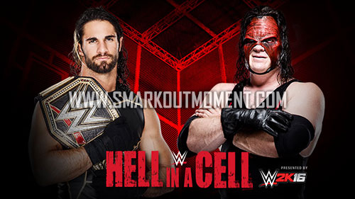 WWE Hell in a Cell 2015 Kane vs Seth Rollins title match
