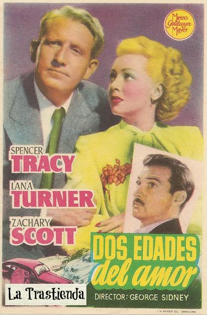 Dos Edades del Amor - Programa de mano - Spencer Tracy - Lana Turner
