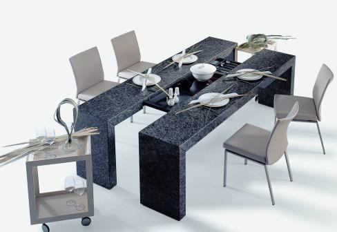 Hogares frescos dise os modernos en mesas de comedor para for Disenos de mesas de vidrio para comedor