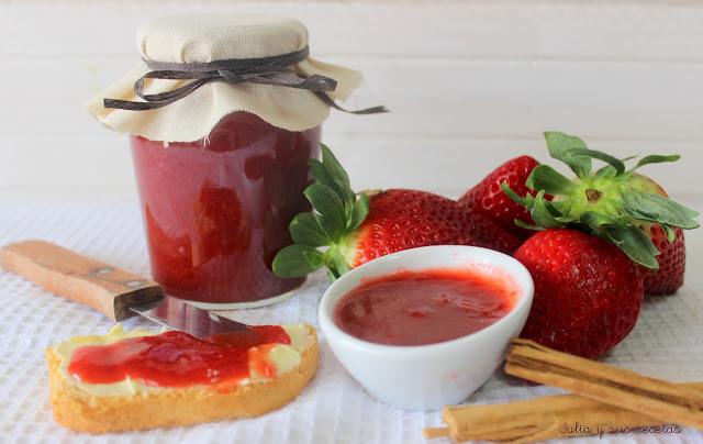 Mermelada de fresas a la canela sin azúcar. Julia y sus recetas