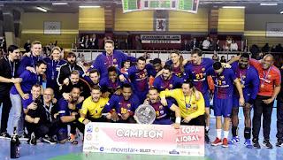 BALONMANO - León no pudo impedir una Copa ASOBAL más para el Barcelona, su 13ª