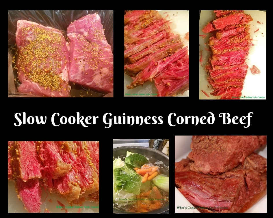cooked Corned Beef in a slow cooker