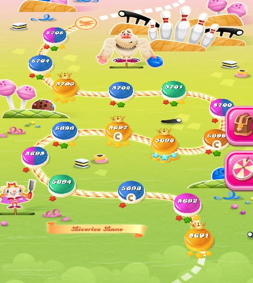 Candy Crush Saga level 5691-5705