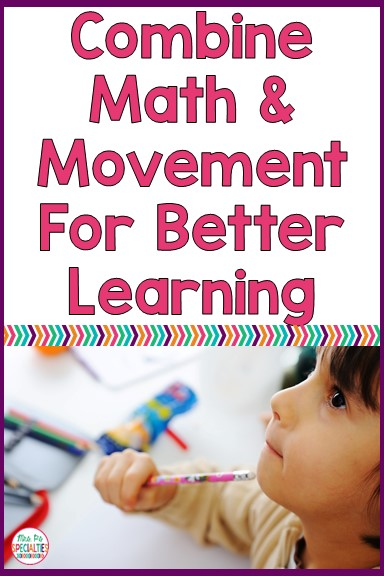 Do you have kiddos that need to move? My room is full of kiddos that crave movement.  Research is very clear... movement is good for our brains, so I mixed math and movement and came up with Motor Math!