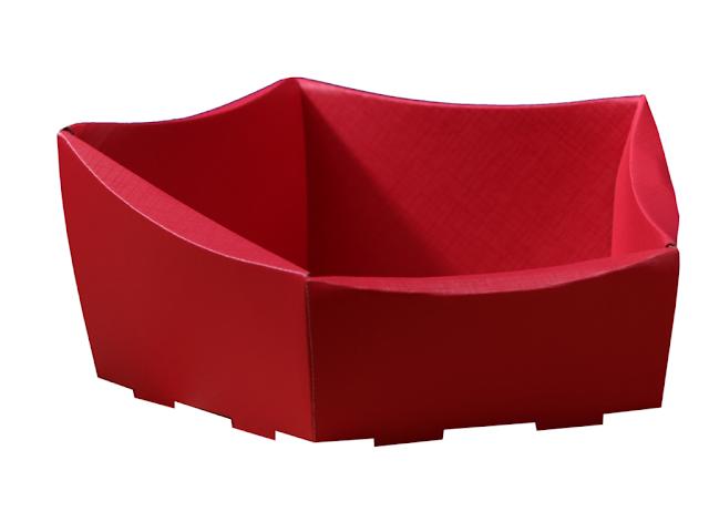Koszyk na prezenty czerwony