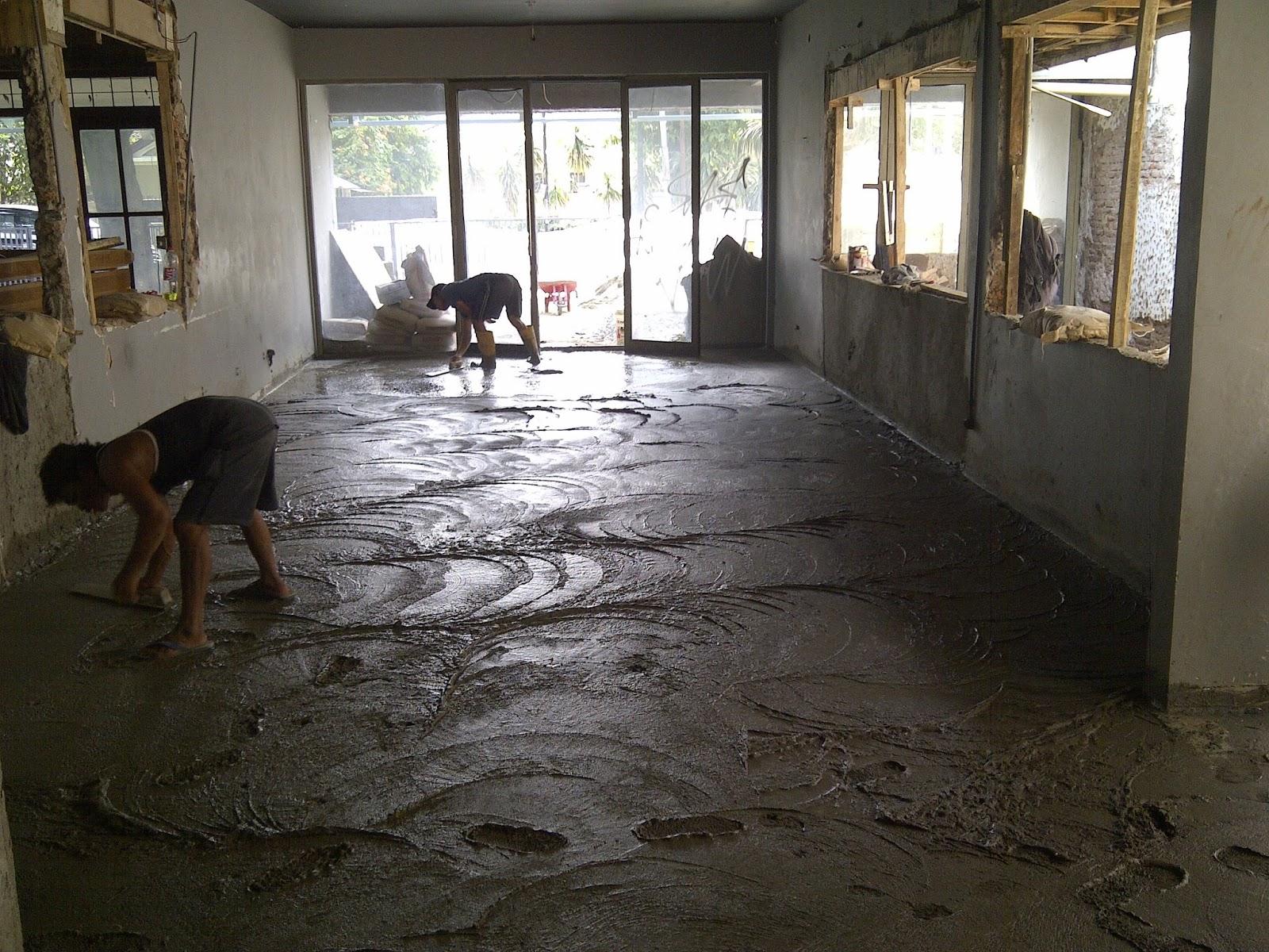 Pengerjaan Pengecoran & Finishing Floor Hardener - Cipete, Jakarta Selatan