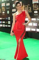 Meenakshi Dixit in Red One Shoulder Red Zipped up gown at IIFA Utsavam Award 41.JPG