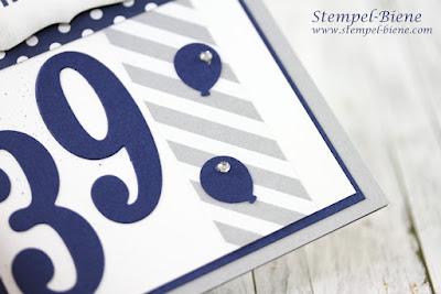 Männerkarte 39. Geburtstag; Matchthesketch; Stampin up Demonstrator werden; Vorteile Demonstrator Stampinup; Anmeldung Demonstrator; Team Stempel-Biene; Stampin up Dekoratives Etikett; Stampin Up Framelits Große Zahlen