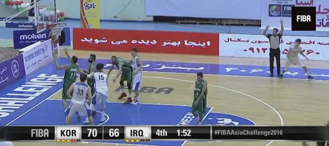 HIGHLIGHTS: Korea vs. Iraq (VIDEO) 2016 FIBA Asia Challenge - SEMIS