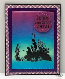 Our Daily Bread Designs Stamp Set: Brother In Christ, Custom Dies: Double Stitched Rectangles, Double Stitched Circles, Paper Collection: Plum Pizzazz