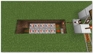 Minecraft 高速トロッコ輸送 アイテム積み込み駅 タイマー