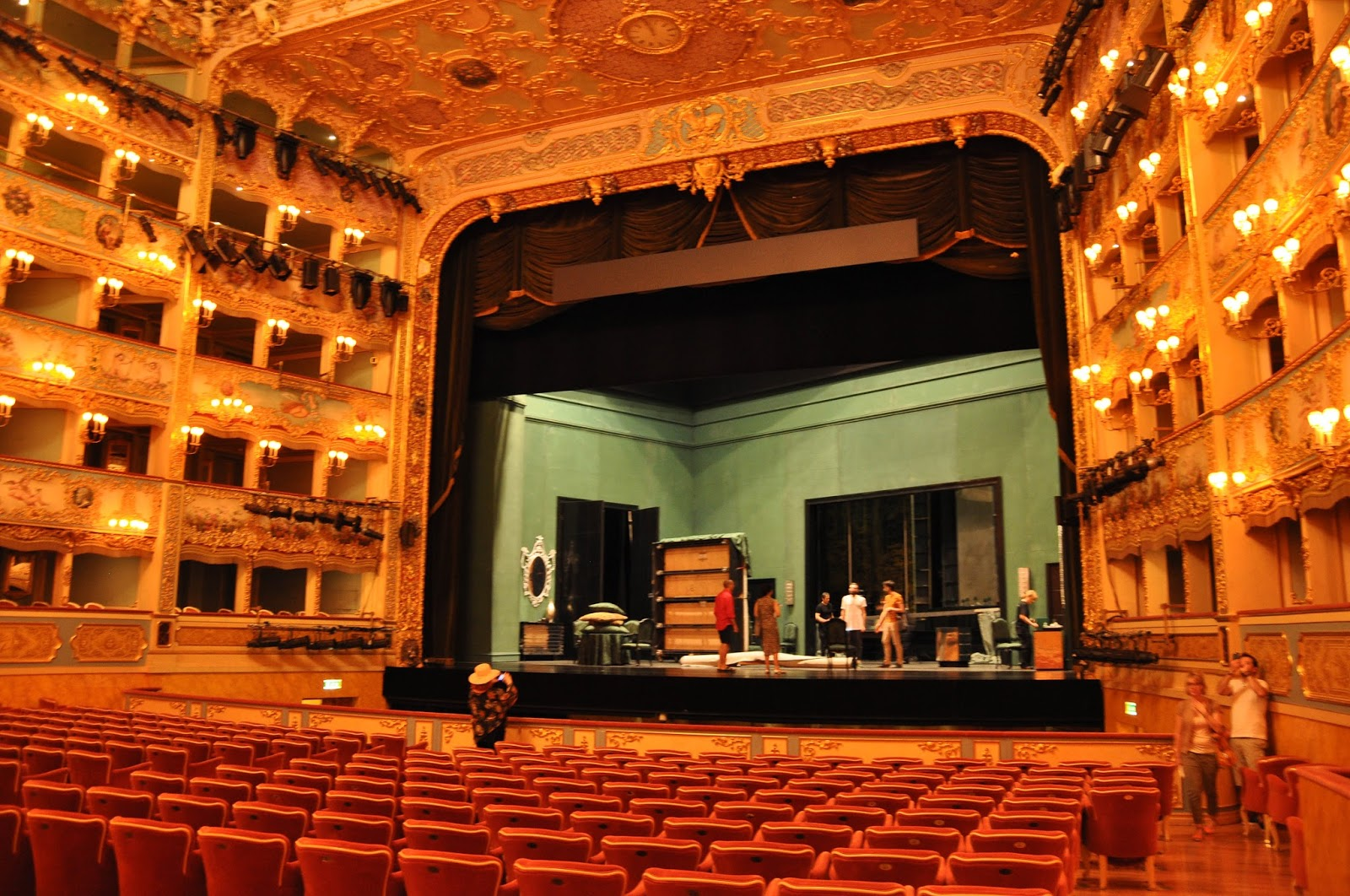 Inside the theatre hall, La Fenice, Venice, Italy